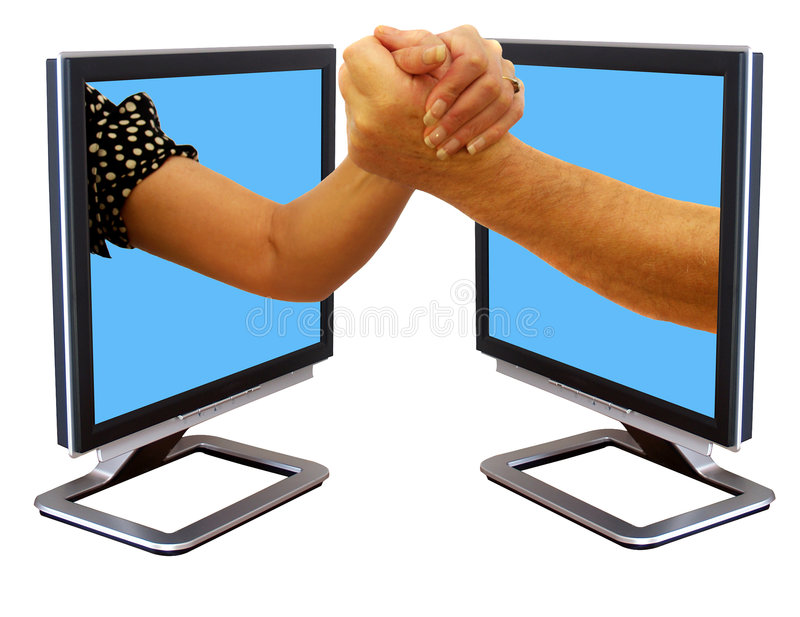 Download Arm wrestling stock image. Image of pact, double, flatscreen - 4635017