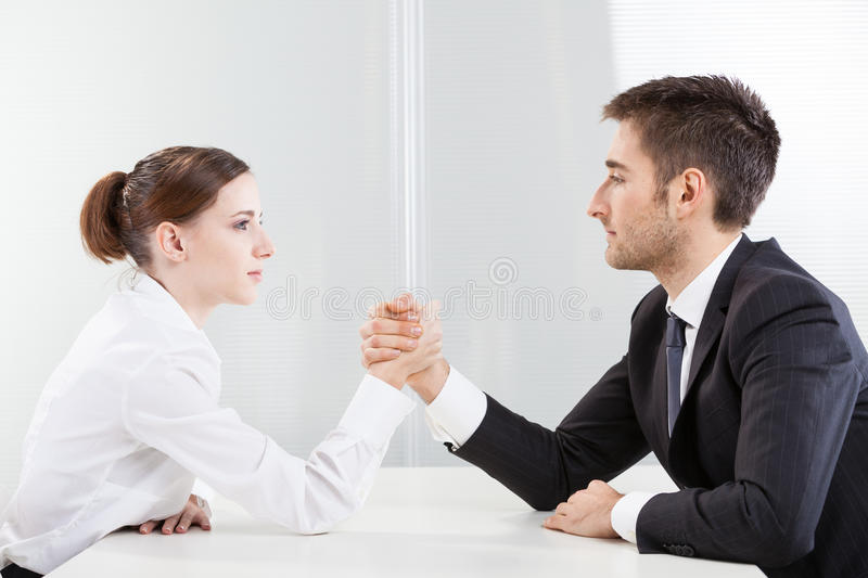 Arm Wrestling Business royalty free stock photos