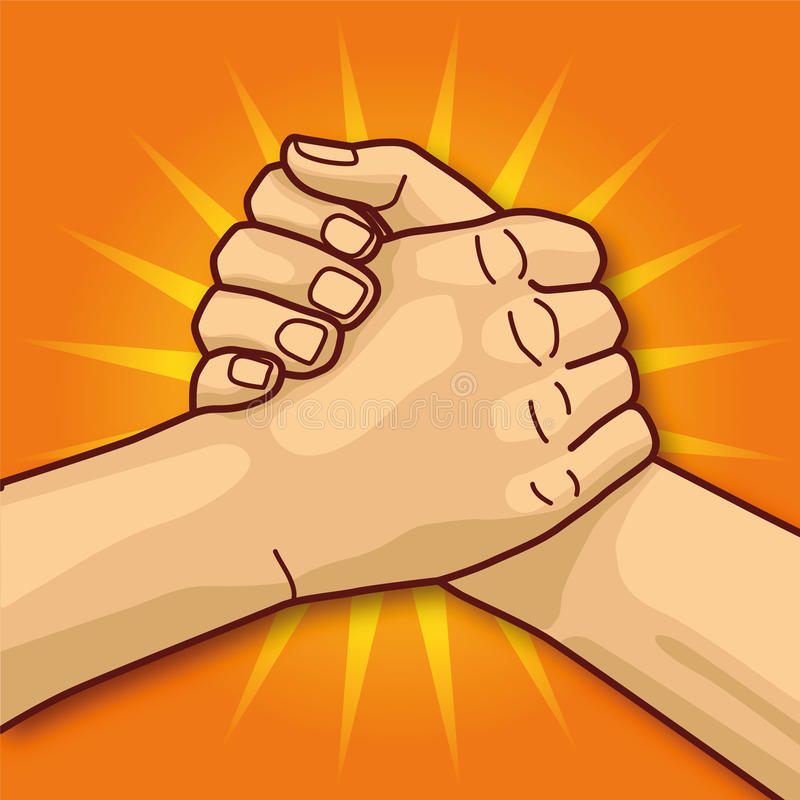 Arm wrestling and power royalty free illustration