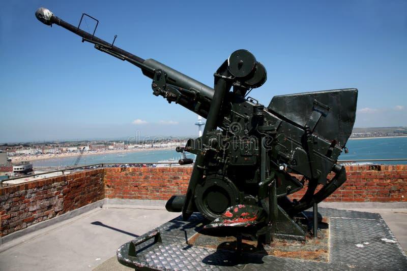 Arma antiaérea de Nothe do forte imagem de stock royalty free