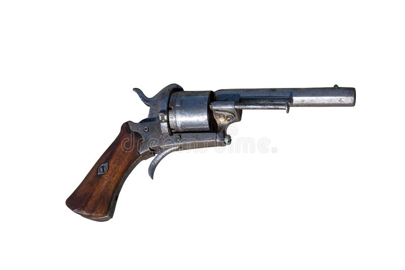 Arma antiga Revólver da arma foto de stock