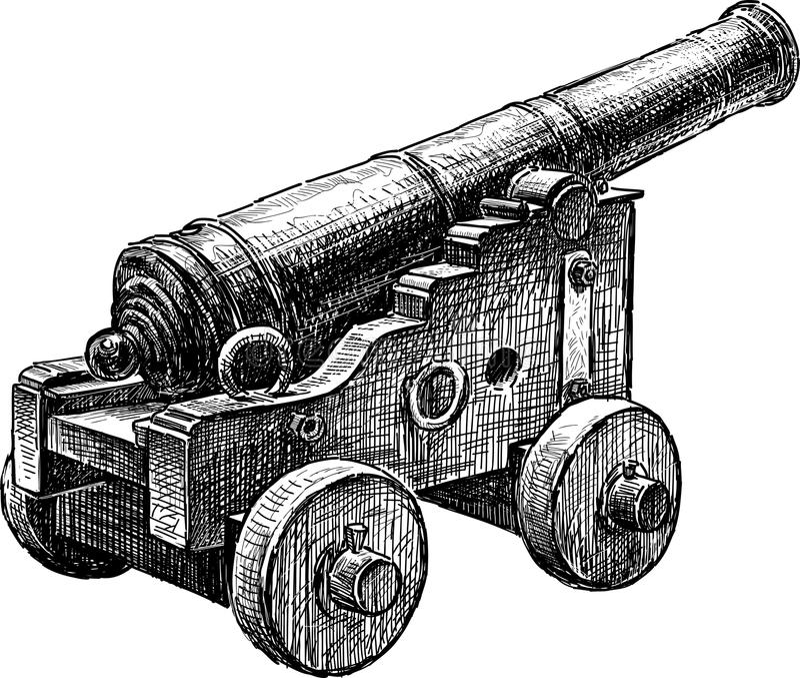 Arma antiguo ilustración del vector