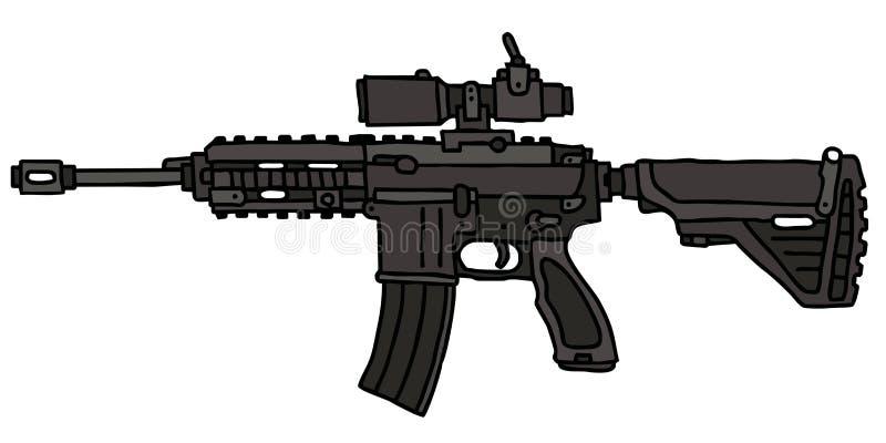 Arma automático stock de ilustración