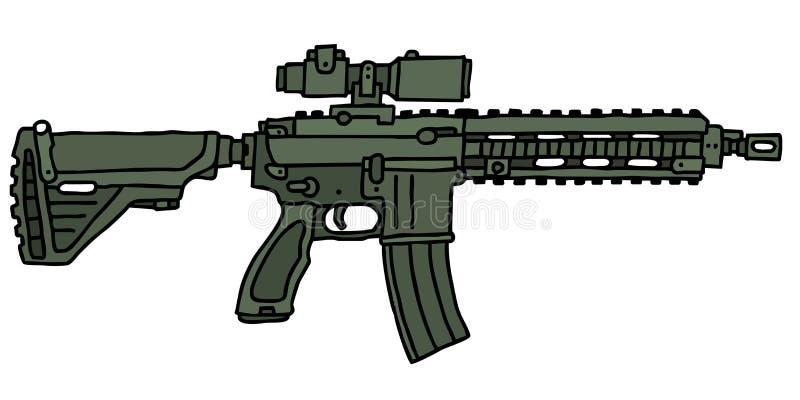 Arma automático verde libre illustration