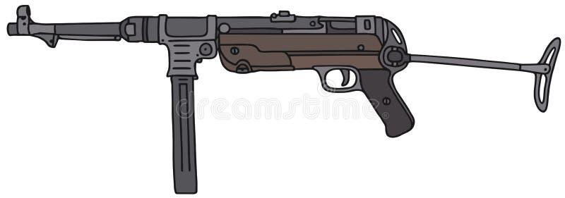 Arma automático viejo libre illustration