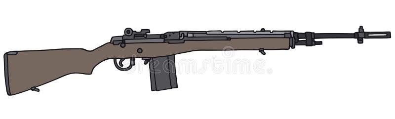 Arma automático viejo ilustración del vector