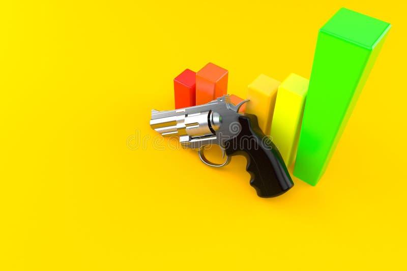 Arma com carta ilustração royalty free
