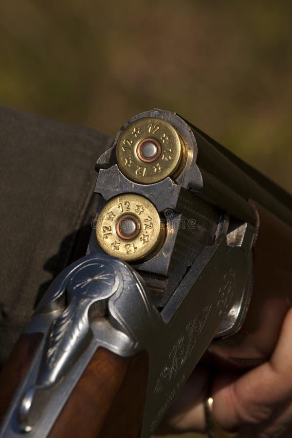 Arma con la munición imagen de archivo libre de regalías