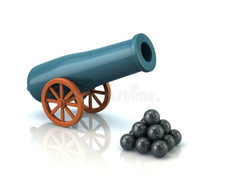 Arma da artilharia ilustração stock
