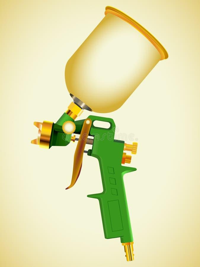 Arma de aerosol stock de ilustración