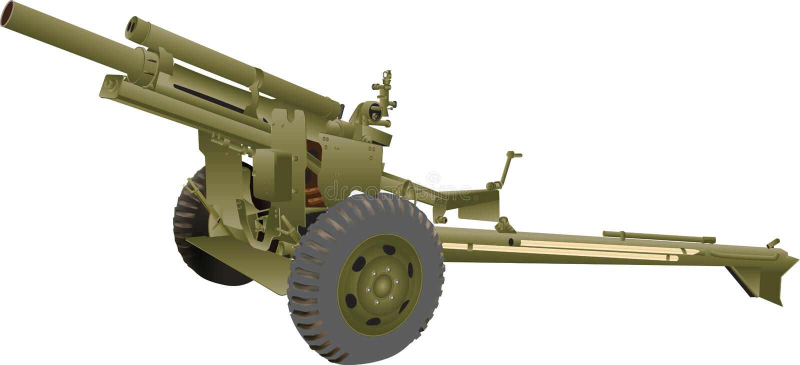 Arma de campo ilustração royalty free