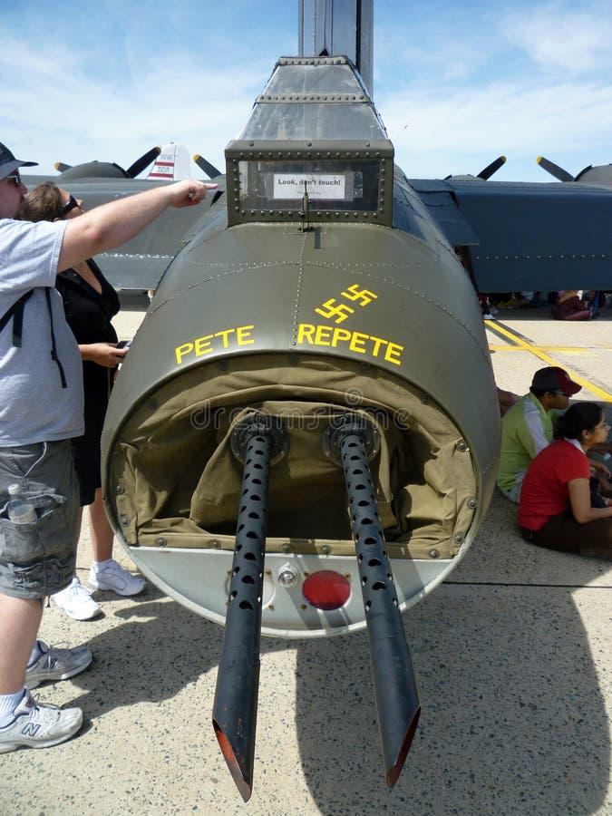 Arma de cola de WWII B17 imágenes de archivo libres de regalías
