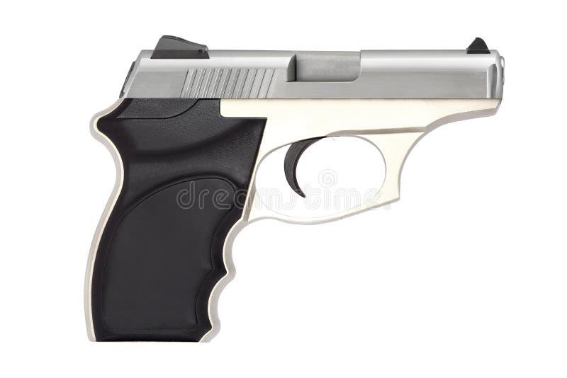Arma de fuego del arma de la pistola automática para el deporte o protección personal o defensa aislada foto de archivo libre de regalías