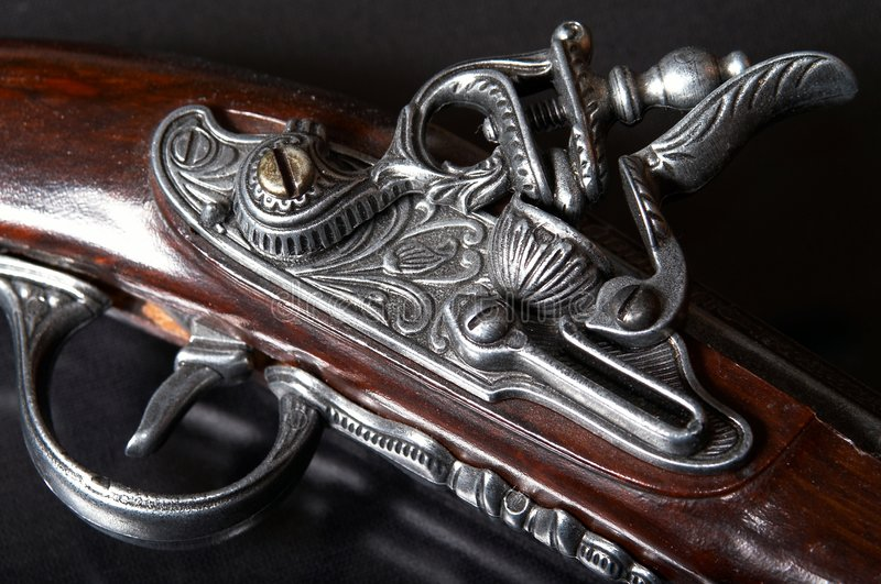 Arma de fuego vieja fotografía de archivo libre de regalías