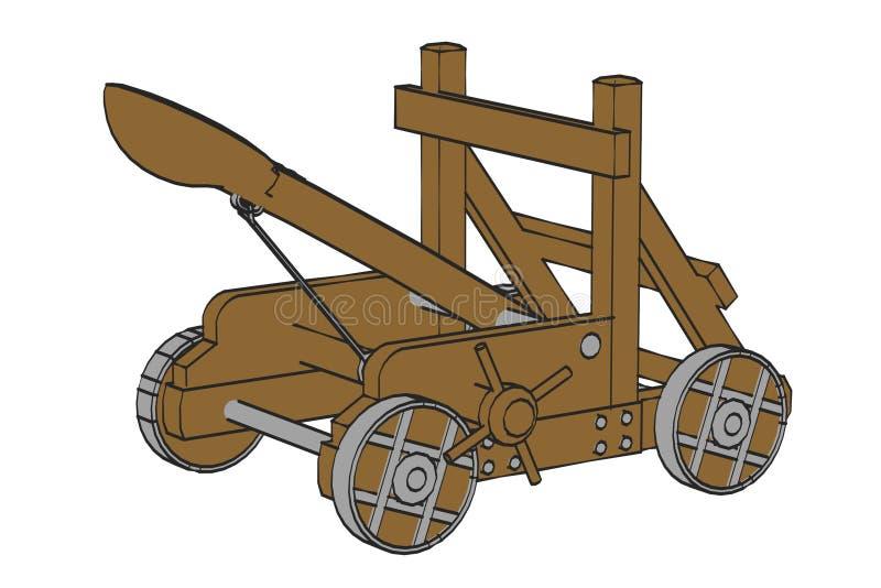 Arma de la catapulta stock de ilustración