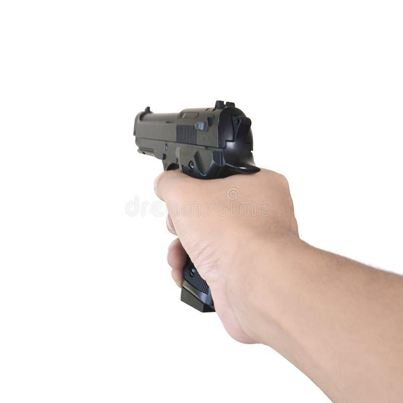 Arma de la explotaci?n agr?cola de la mano fotografía de archivo