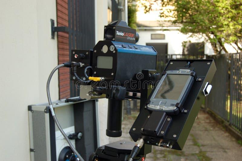 Arma de la velocidad del LIDAR imagen de archivo