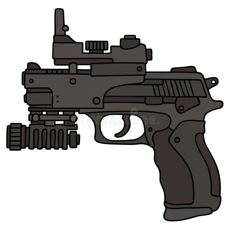 Arma de mano automática moderna ilustración del vector