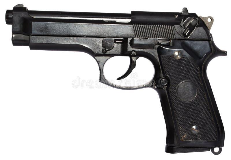 arma de mano de 9m m imagen de archivo