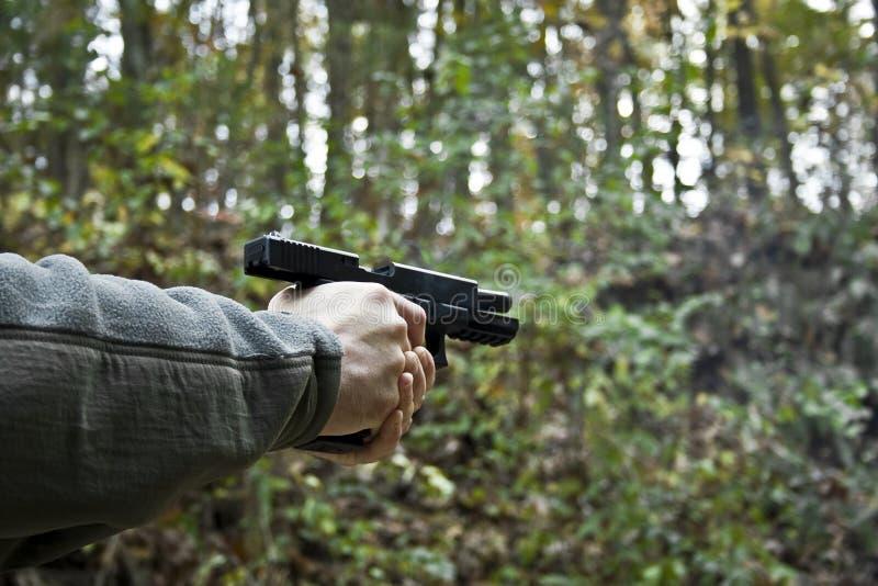 Arma de mano, descargada foto de archivo