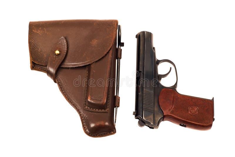 Arma de mano y pistolera imágenes de archivo libres de regalías