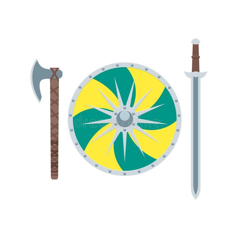 Arma de Viking plana imágenes de archivo libres de regalías