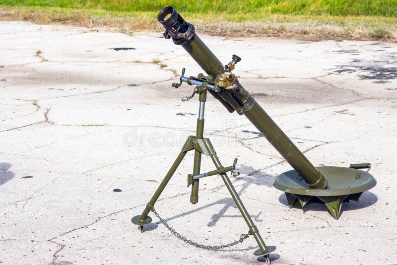 Arma del cañón del mortero fotos de archivo
