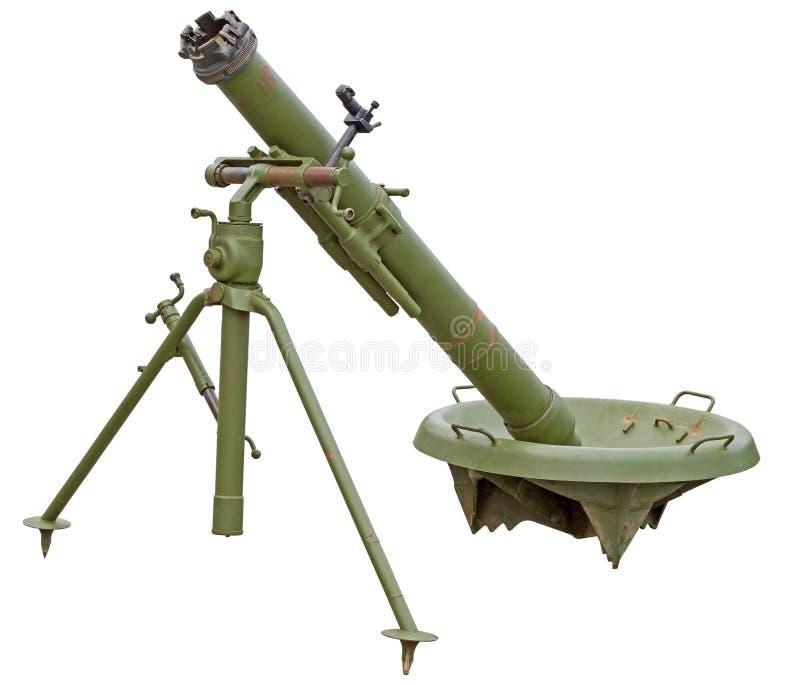 Arma del cañón del mortero imagenes de archivo