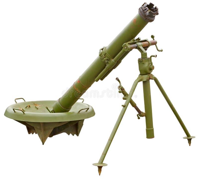 Arma del cañón del mortero foto de archivo