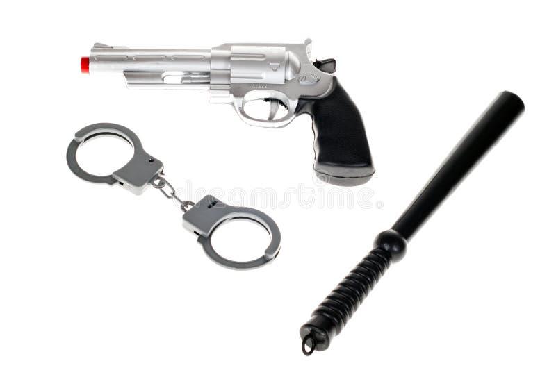 Arma del juego del juguete con las manillas imágenes de archivo libres de regalías