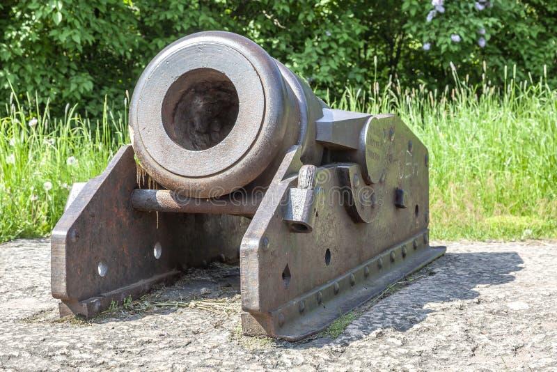 Arma del mortero Ca??n viejo fotos de archivo libres de regalías