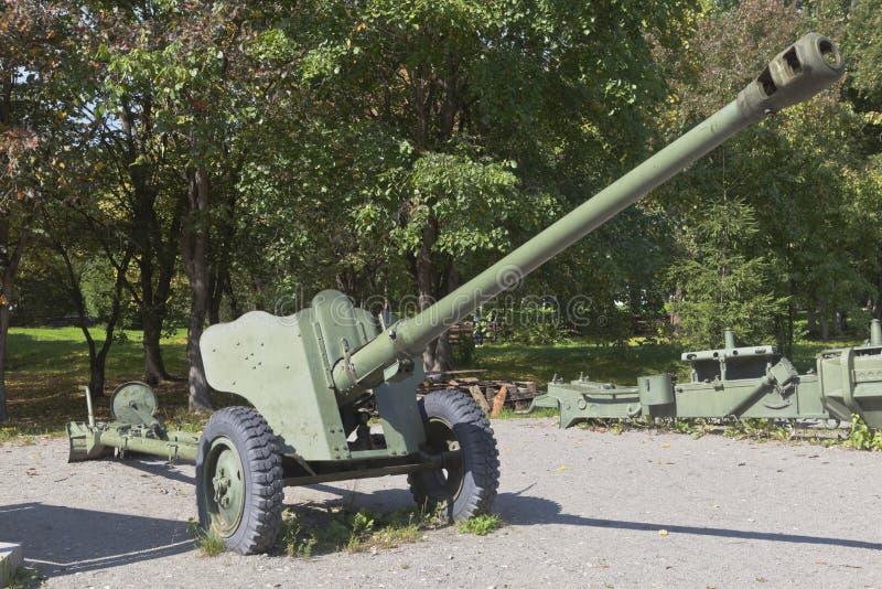 Arma divisória D-44 no Parque da Vitória da cidade de Vologda fotos de stock