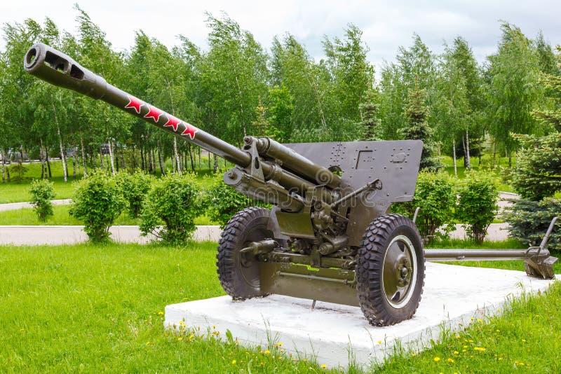 Arma divisional soviético Zis-3 imágenes de archivo libres de regalías