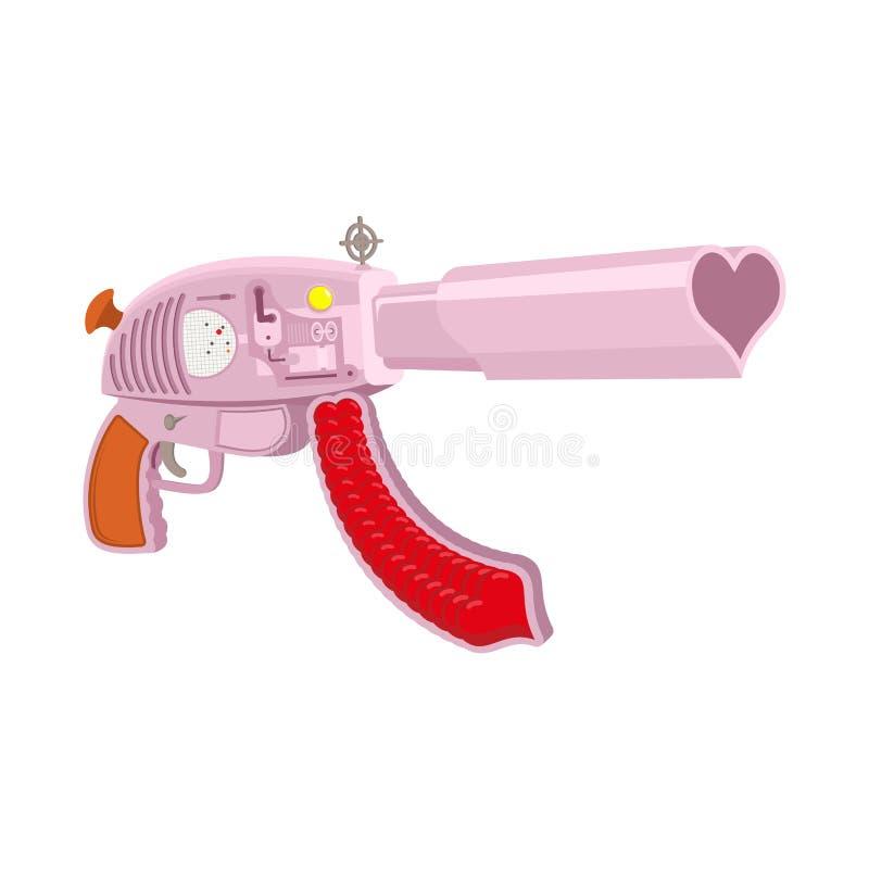 Arma do amor isolada ilustração royalty free