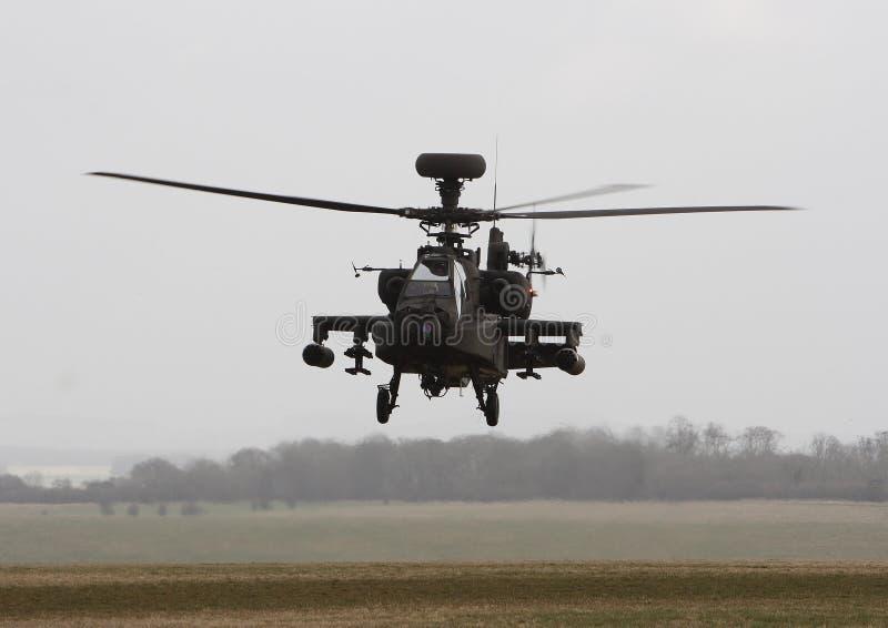 Arma do helicóptero de Apache fotografia de stock