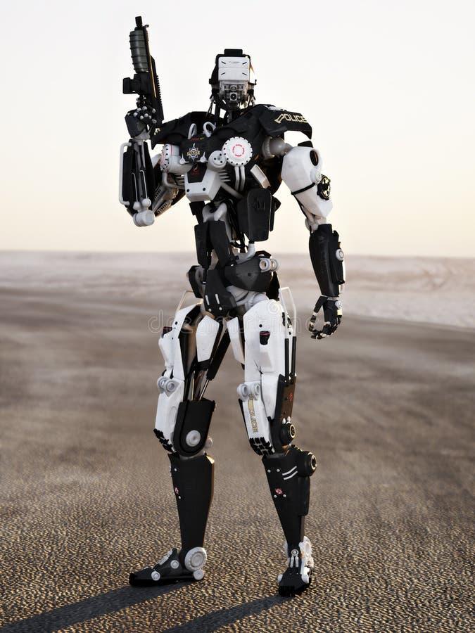 Arma mech acorazada de la policía futurista del robot fotos de archivo libres de regalías