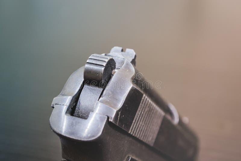 Arma negro del metal del arma del ejército imágenes de archivo libres de regalías