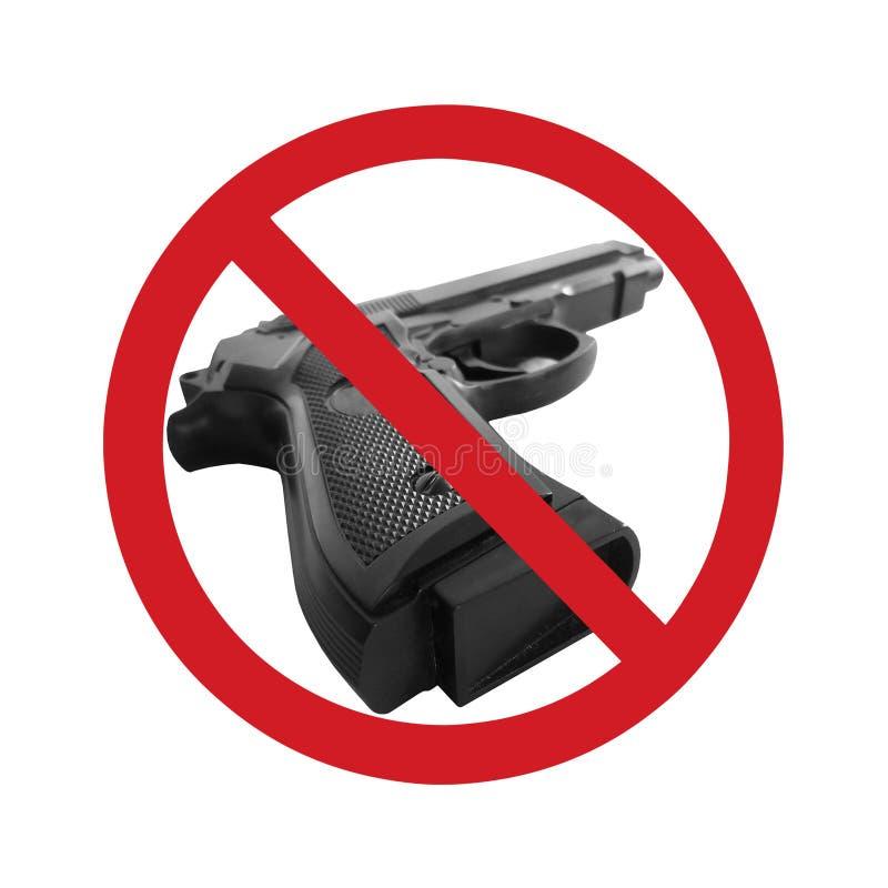 Arma no fundo branco ilustração do vetor