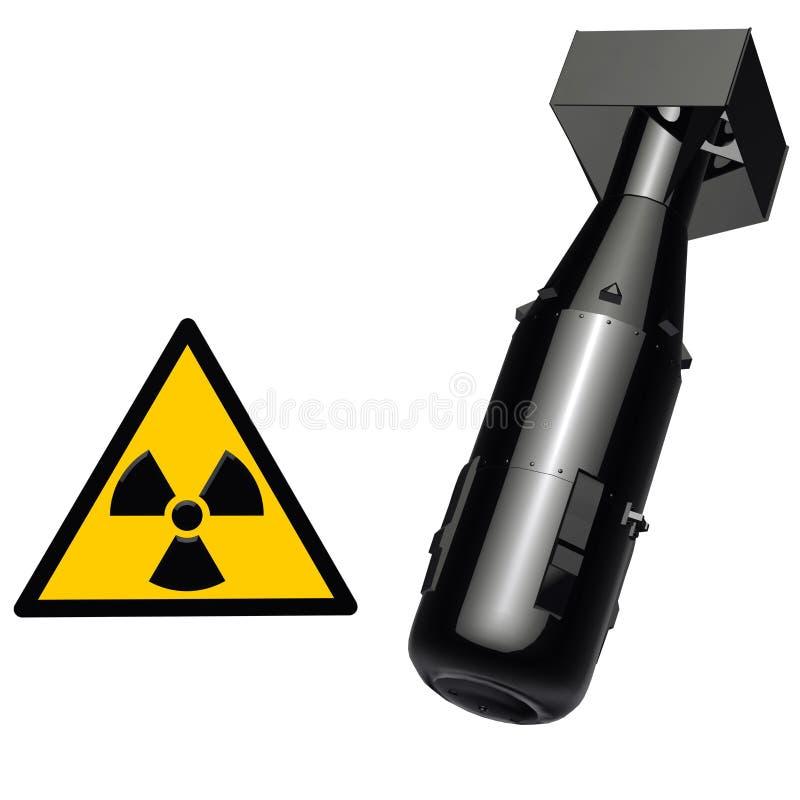 arma nuclear ilustración del vector