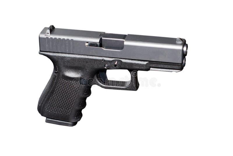 Arma preta da pistola do metal 9mm imagem de stock royalty free