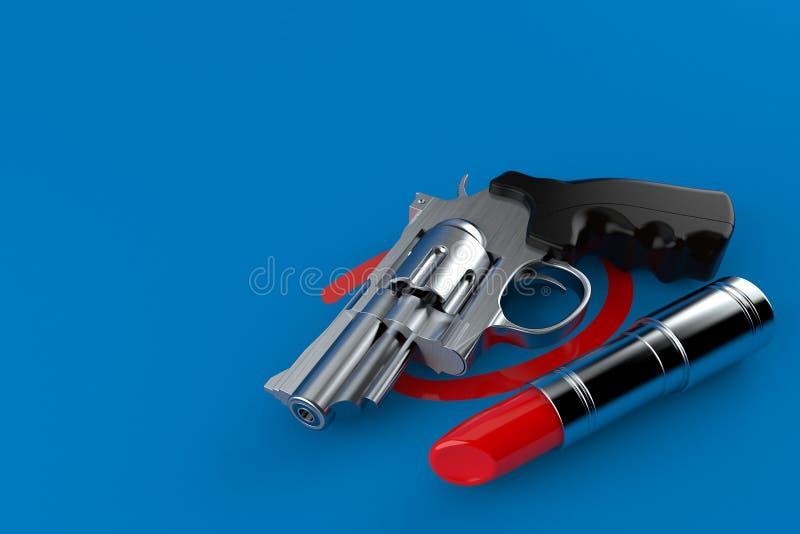 Arma seleccionado con la barra de labios ilustración del vector