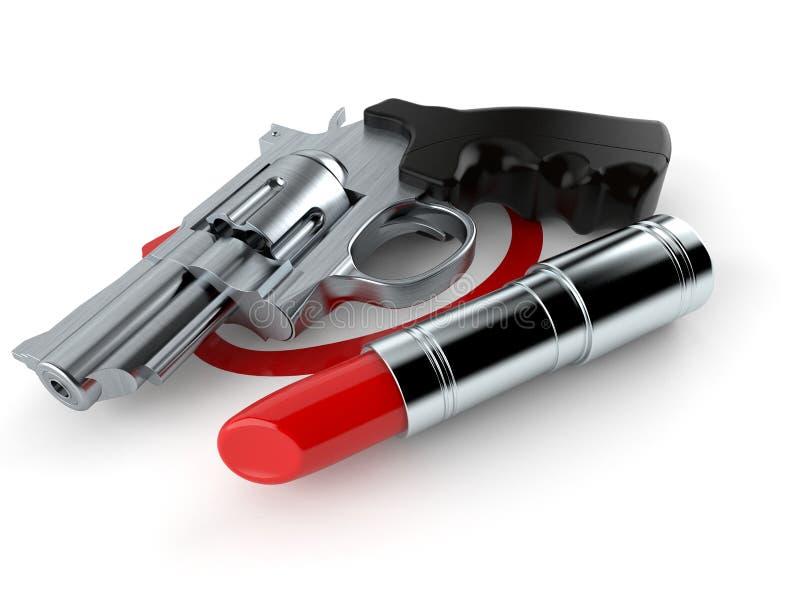 Arma seleccionado con la barra de labios libre illustration