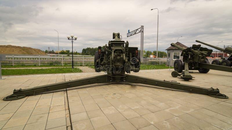 Arma soviético del combate, un objeto expuesto del museo militar-histórico, Ekaterinburg, Rusia, fotos de archivo