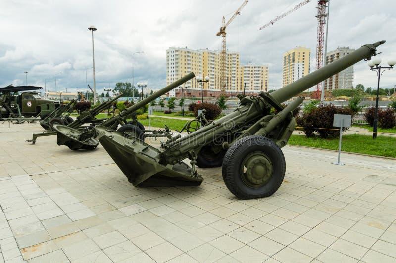 Arma soviético del combate, un objeto expuesto del museo militar-histórico, Ekaterinburg, Rusia, imagen de archivo libre de regalías