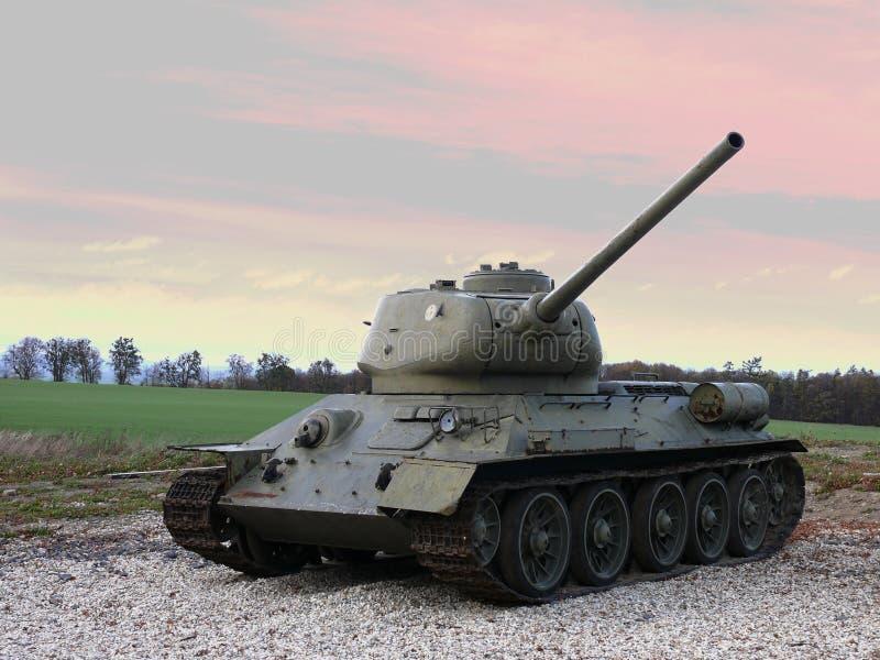 Arma sovietica di combattimento del carro armato T 32 di WWII fotografia stock