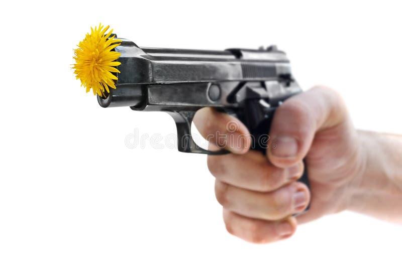 Arma y flores imágenes de archivo libres de regalías
