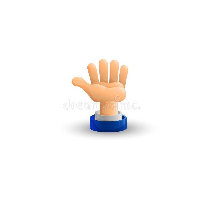 armada tła biznesowego projekta ręki ilustracyjny biel palma up ikona 3 d mieszkanie royalty ilustracja