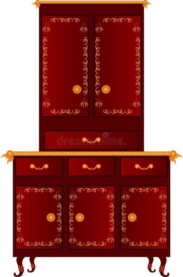Armadietto della cucina di vettore royalty illustrazione gratis