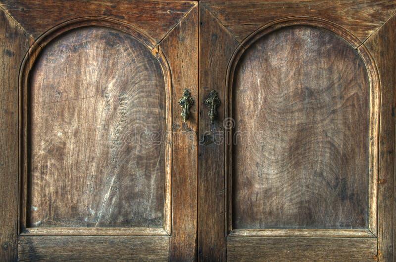 Armadietto di legno fotografia stock libera da diritti