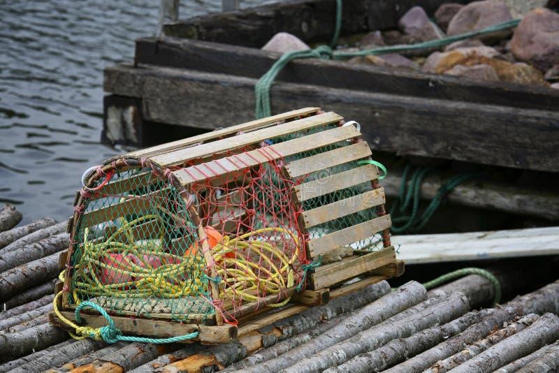 Armadilha da lagosta de Terra Nova imagem de stock